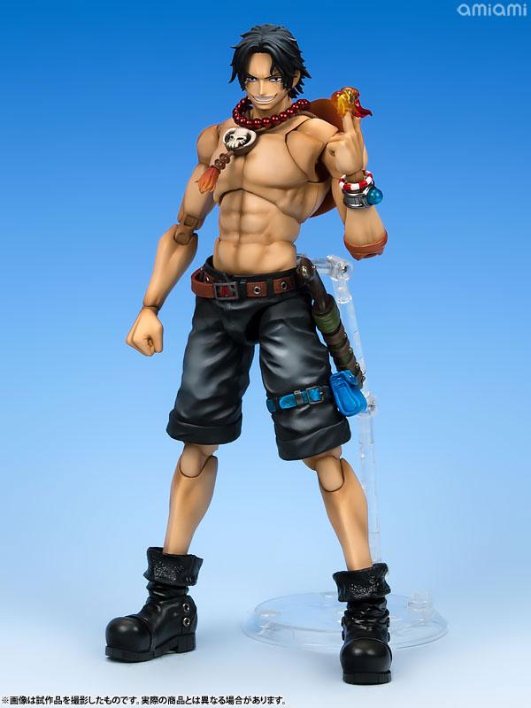 ヴァリアブルアクションヒーローズDX ワンピース Portrait.Of.Pirates × VAH ポートガス・D・エース 1/8 アクションフィギュア-001