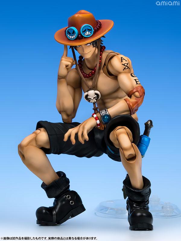 ヴァリアブルアクションヒーローズDX ワンピース Portrait.Of.Pirates × VAH ポートガス・D・エース 1/8 アクションフィギュア-008