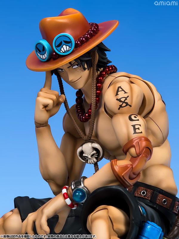 ヴァリアブルアクションヒーローズDX ワンピース Portrait.Of.Pirates × VAH ポートガス・D・エース 1/8 アクションフィギュア-009