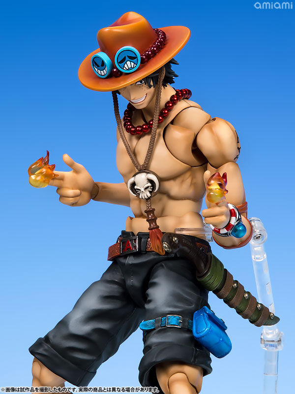 ヴァリアブルアクションヒーローズDX ワンピース Portrait.Of.Pirates × VAH ポートガス・D・エース 1/8 アクションフィギュア-012