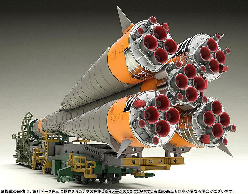 1/150 ソユーズロケット+搬送列車 プラモデル-001