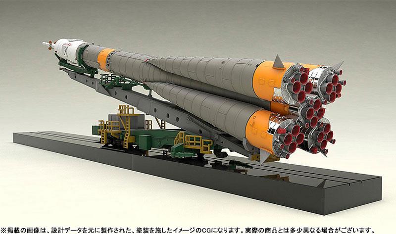 1/150 ソユーズロケット+搬送列車 プラモデル-002