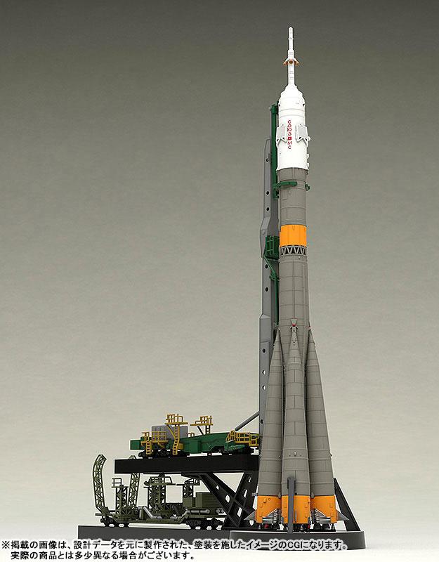 1/150 ソユーズロケット+搬送列車 プラモデル-003