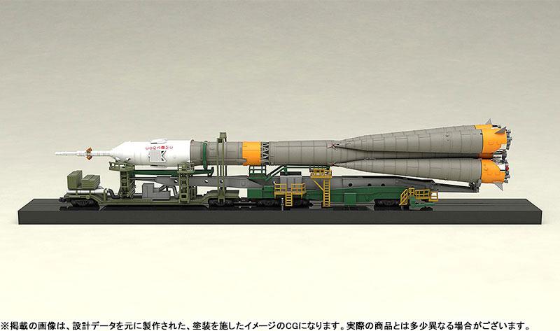 1/150 ソユーズロケット+搬送列車 プラモデル-004