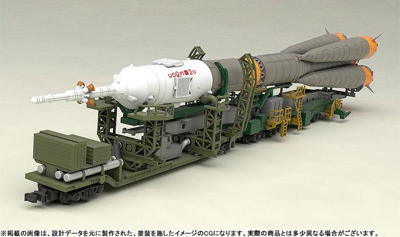 1/150 ソユーズロケット+搬送列車 プラモデル-005