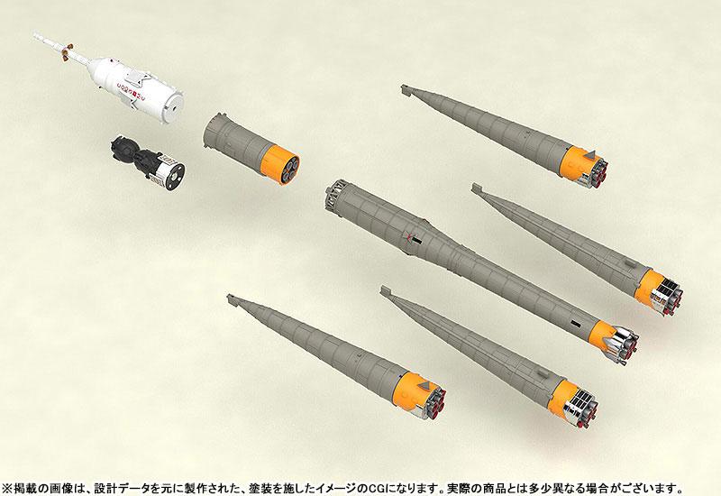1/150 ソユーズロケット+搬送列車 プラモデル-006