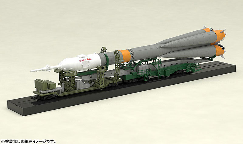 1/150 ソユーズロケット+搬送列車 プラモデル-009