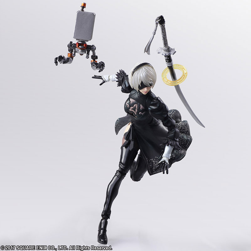 BRING ARTS NieR:Automata 2B&機械生命体(2体セット) アクションフィギュア-009