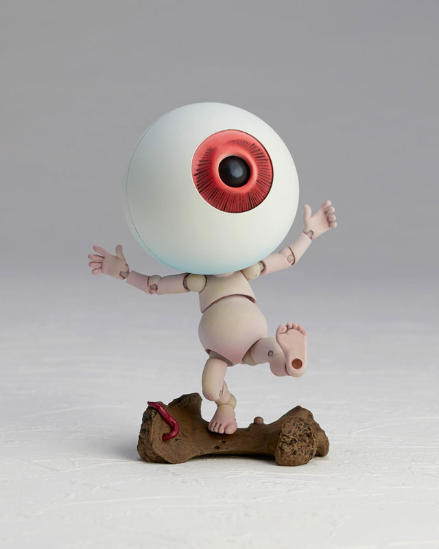KT-019 タケヤ式自在置物『目玉おやじ|ゲゲゲの鬼太郎立体絵巻』可動フィギュア-009