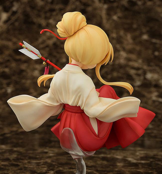 きんいろモザイク Pretty Days 九条カレン 巫女style 1/8 完成品フィギュア-002