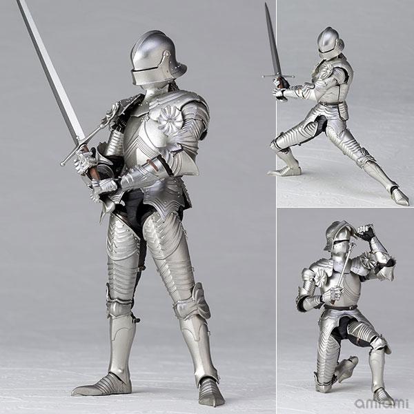 KT-021 タケヤ式自在置物『15世紀ゴチック式フィールドアーマー シルバー』可動フィギュア