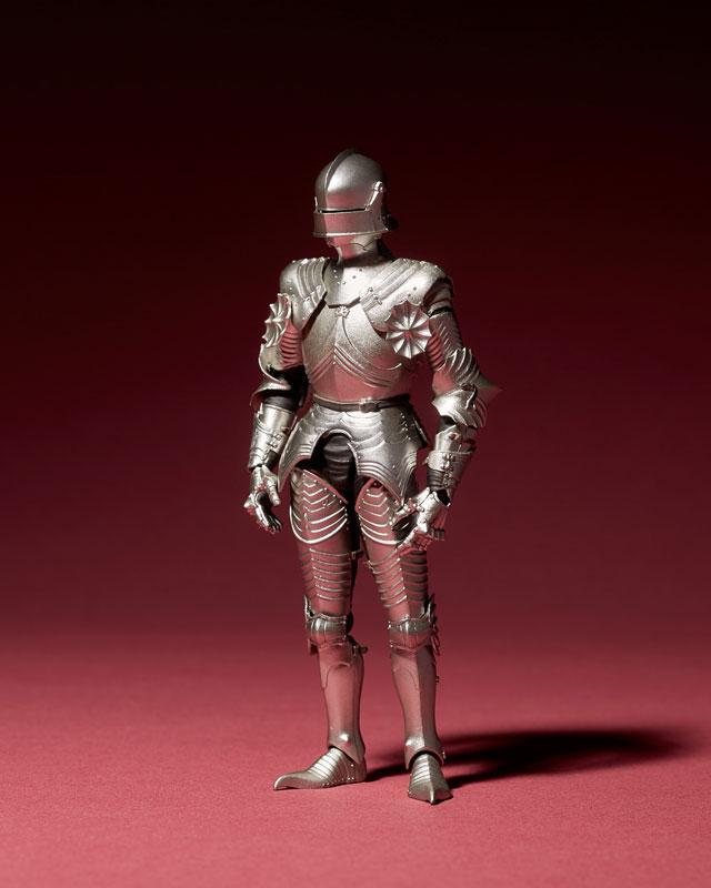 KT-021 タケヤ式自在置物『15世紀ゴチック式フィールドアーマー シルバー』可動フィギュア-001