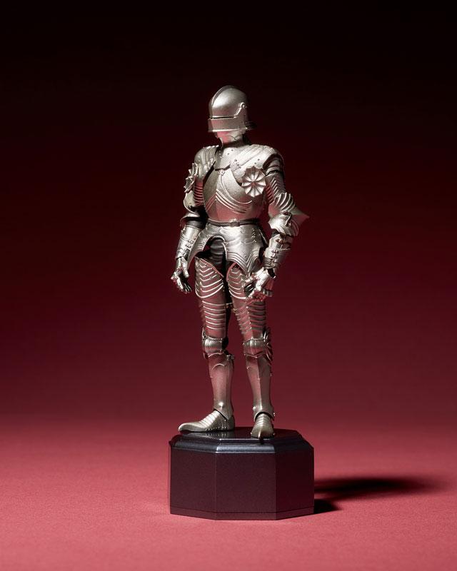 KT-021 タケヤ式自在置物『15世紀ゴチック式フィールドアーマー シルバー』可動フィギュア-002