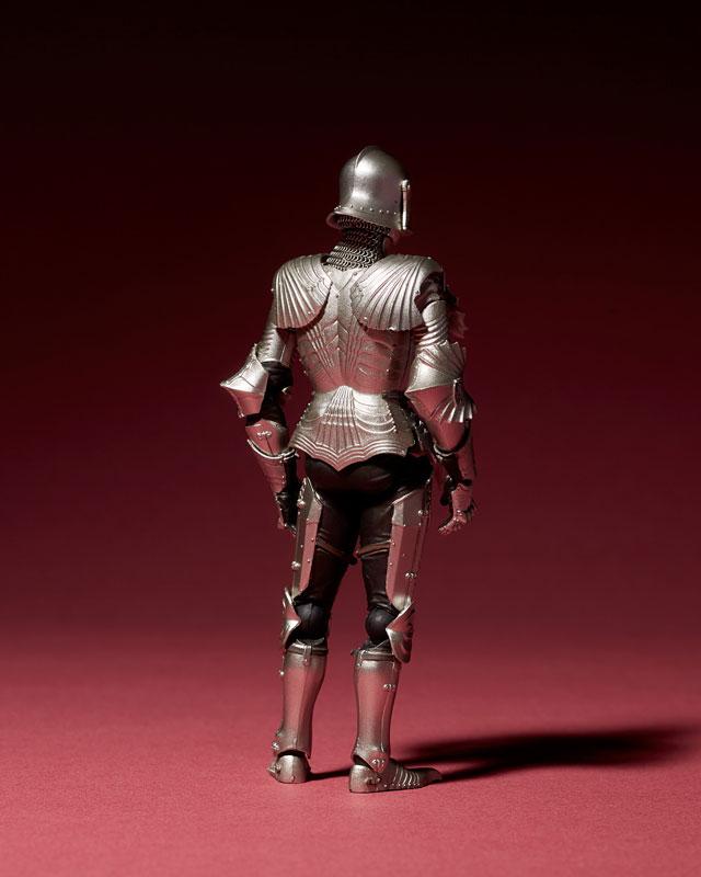 KT-021 タケヤ式自在置物『15世紀ゴチック式フィールドアーマー シルバー』可動フィギュア-003