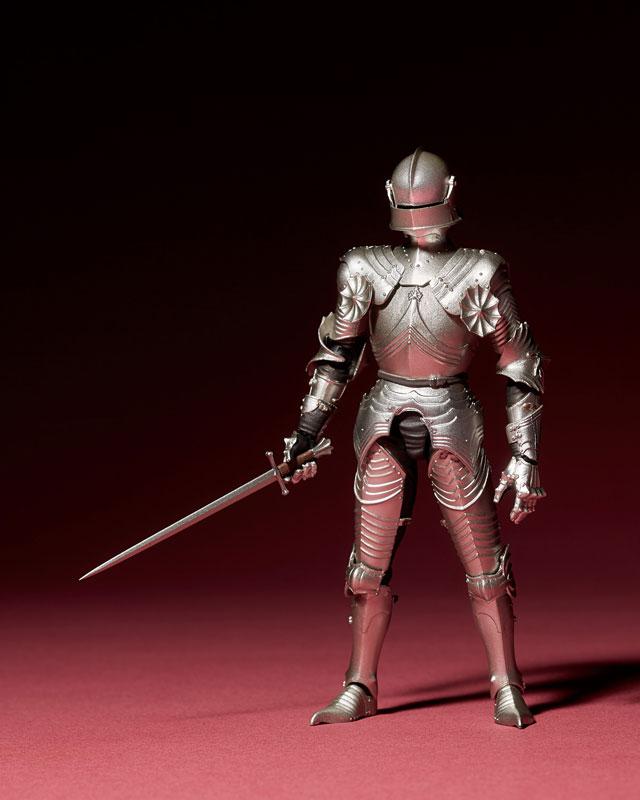 KT-021 タケヤ式自在置物『15世紀ゴチック式フィールドアーマー シルバー』可動フィギュア-004