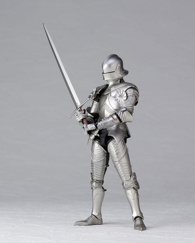 KT-021 タケヤ式自在置物『15世紀ゴチック式フィールドアーマー シルバー』可動フィギュア-006