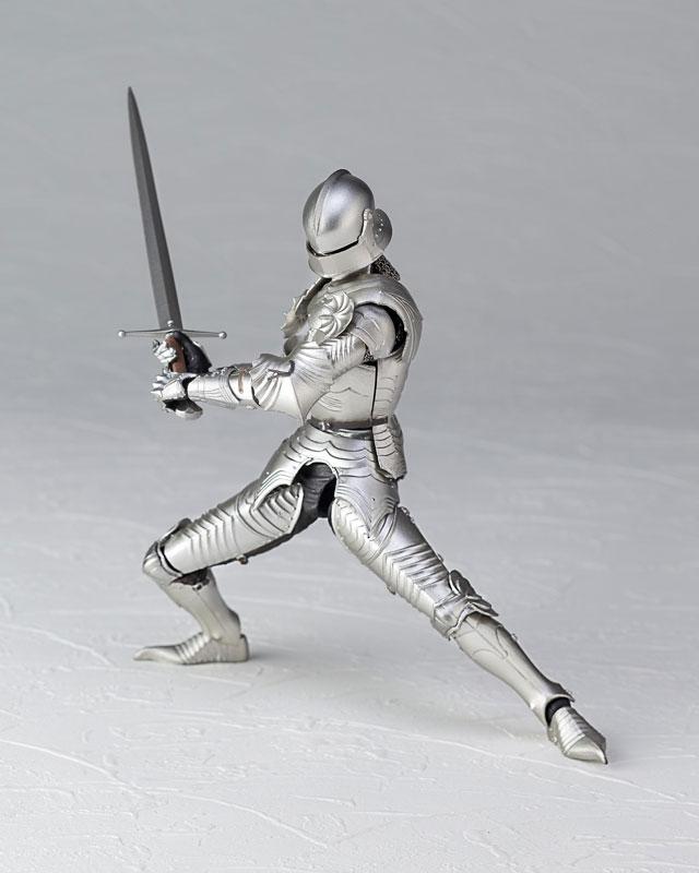 KT-021 タケヤ式自在置物『15世紀ゴチック式フィールドアーマー シルバー』可動フィギュア-007