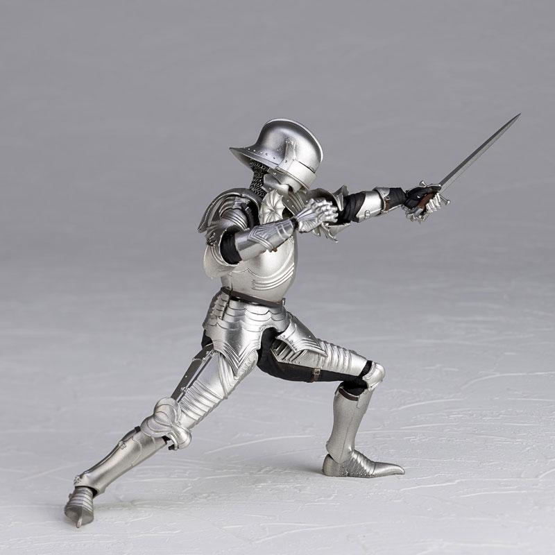KT-021 タケヤ式自在置物『15世紀ゴチック式フィールドアーマー シルバー』可動フィギュア-008