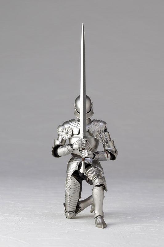 KT-021 タケヤ式自在置物『15世紀ゴチック式フィールドアーマー シルバー』可動フィギュア-009