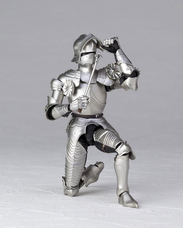 KT-021 タケヤ式自在置物『15世紀ゴチック式フィールドアーマー シルバー』可動フィギュア-010