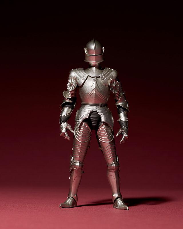KT-021 タケヤ式自在置物『15世紀ゴチック式フィールドアーマー シルバー』可動フィギュア-011