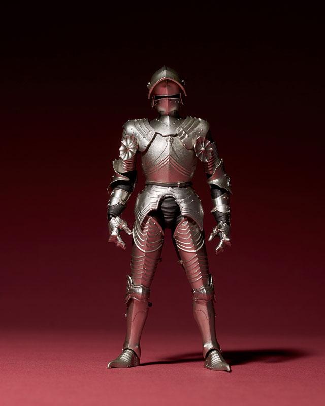 KT-021 タケヤ式自在置物『15世紀ゴチック式フィールドアーマー シルバー』可動フィギュア-012