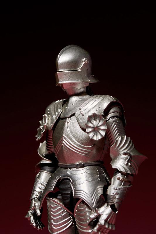 KT-021 タケヤ式自在置物『15世紀ゴチック式フィールドアーマー シルバー』可動フィギュア-013