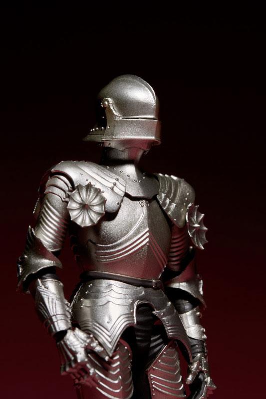 KT-021 タケヤ式自在置物『15世紀ゴチック式フィールドアーマー シルバー』可動フィギュア-014