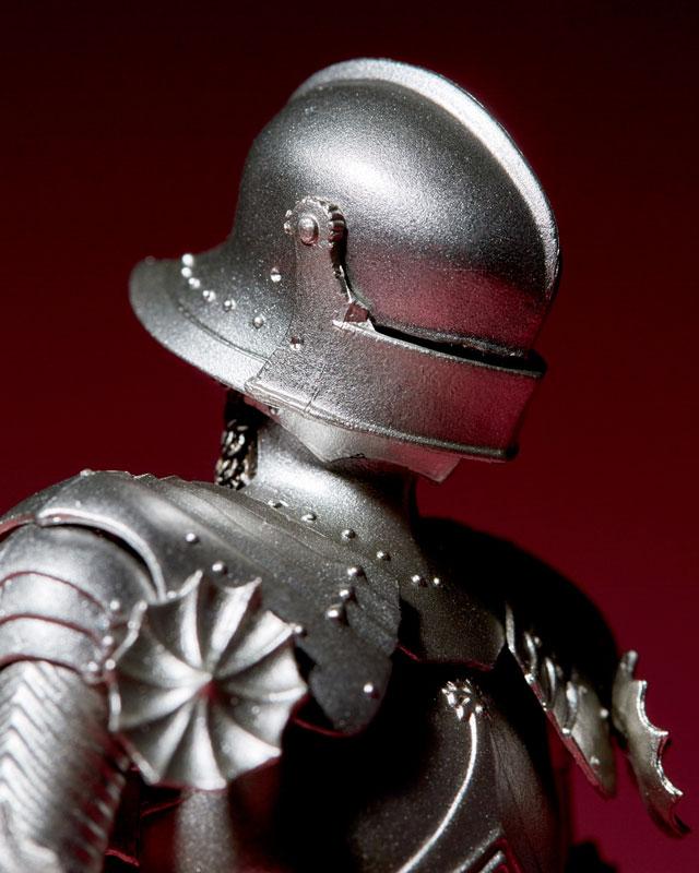 KT-021 タケヤ式自在置物『15世紀ゴチック式フィールドアーマー シルバー』可動フィギュア-015