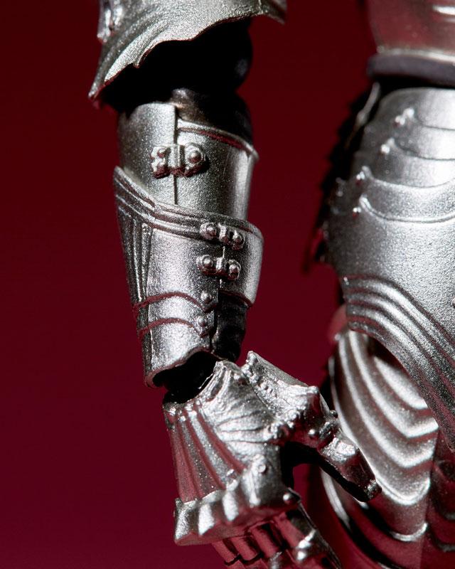 KT-021 タケヤ式自在置物『15世紀ゴチック式フィールドアーマー シルバー』可動フィギュア-020