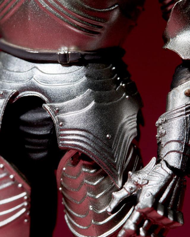 KT-021 タケヤ式自在置物『15世紀ゴチック式フィールドアーマー シルバー』可動フィギュア-021