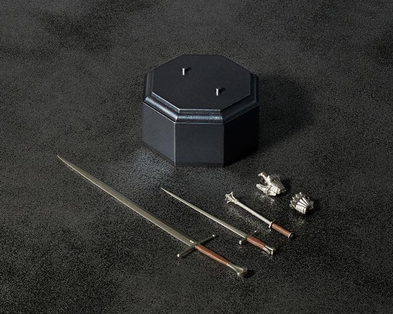 KT-021 タケヤ式自在置物『15世紀ゴチック式フィールドアーマー シルバー』可動フィギュア-026