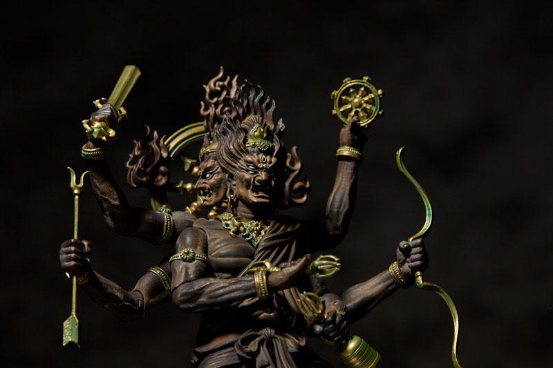 KT Project『KT-023  金剛夜叉明王 木彫|タケヤ式自在置物』可動フィギュア-005