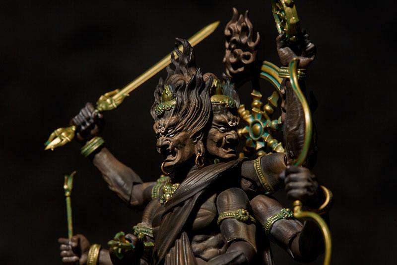 KT Project『KT-023 タケヤ式自在置物 金剛夜叉明王 木彫』可動フィギュア-007