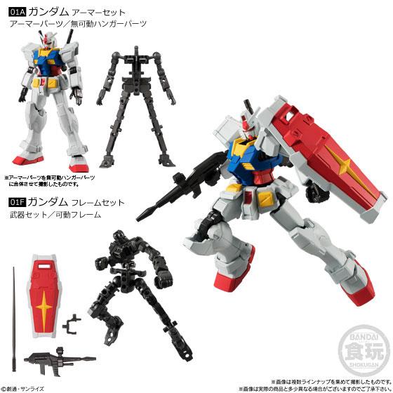 【食玩】機動戦士ガンダム『Gフレーム03』可動フィギュア 10個入りBOX-001
