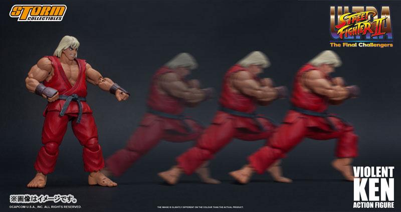 ウルトラストリートファイターII ザ・ファイナルチャレンジャーズ『洗脳されたケン』可動フィギュア-006
