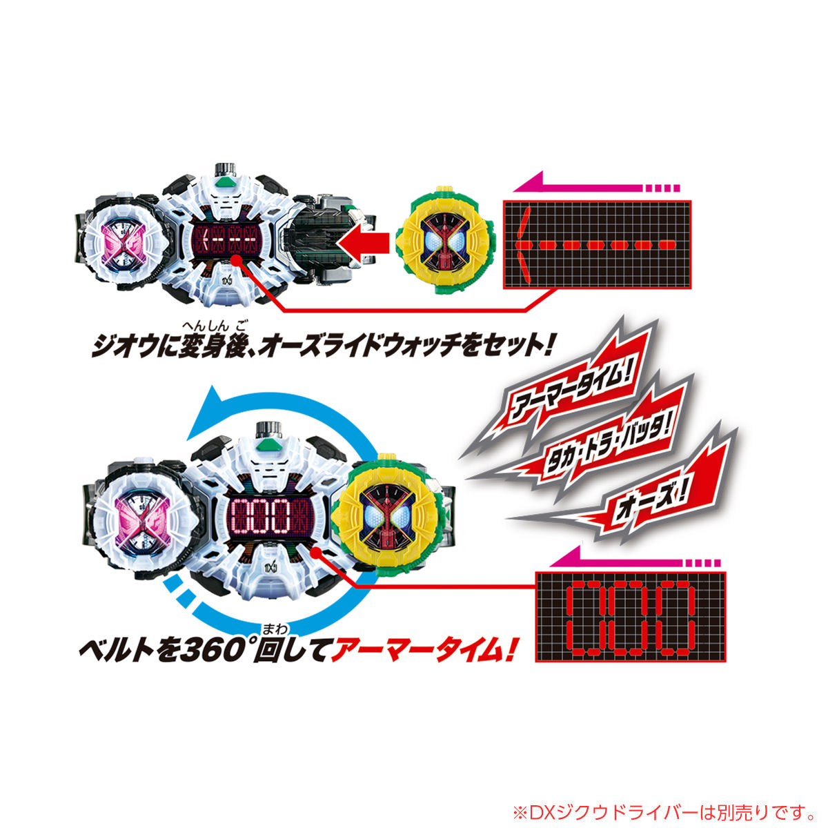 仮面ライダージオウ『DXタイムマジーン & オーズライドウォッチ』変身なりきり 可動フィギュア-009