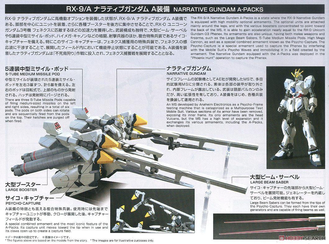 HGUC『ナラティブガンダム A装備』ガンダムNT 1/144 プラモデル-023