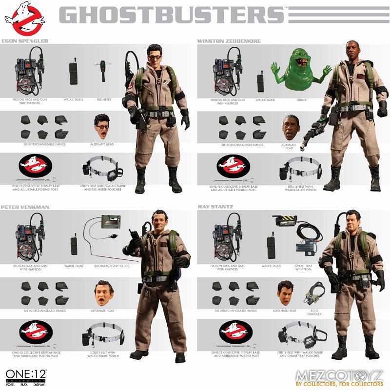ワン12コレクティブ『ゴーストバスターズ: ゴーストバスターズ』1/12 アクションフィギュア DLX ボックスセット-002