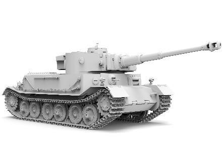 1/35『ドイツ重戦車 ティーガー(P)』プラモデル-002