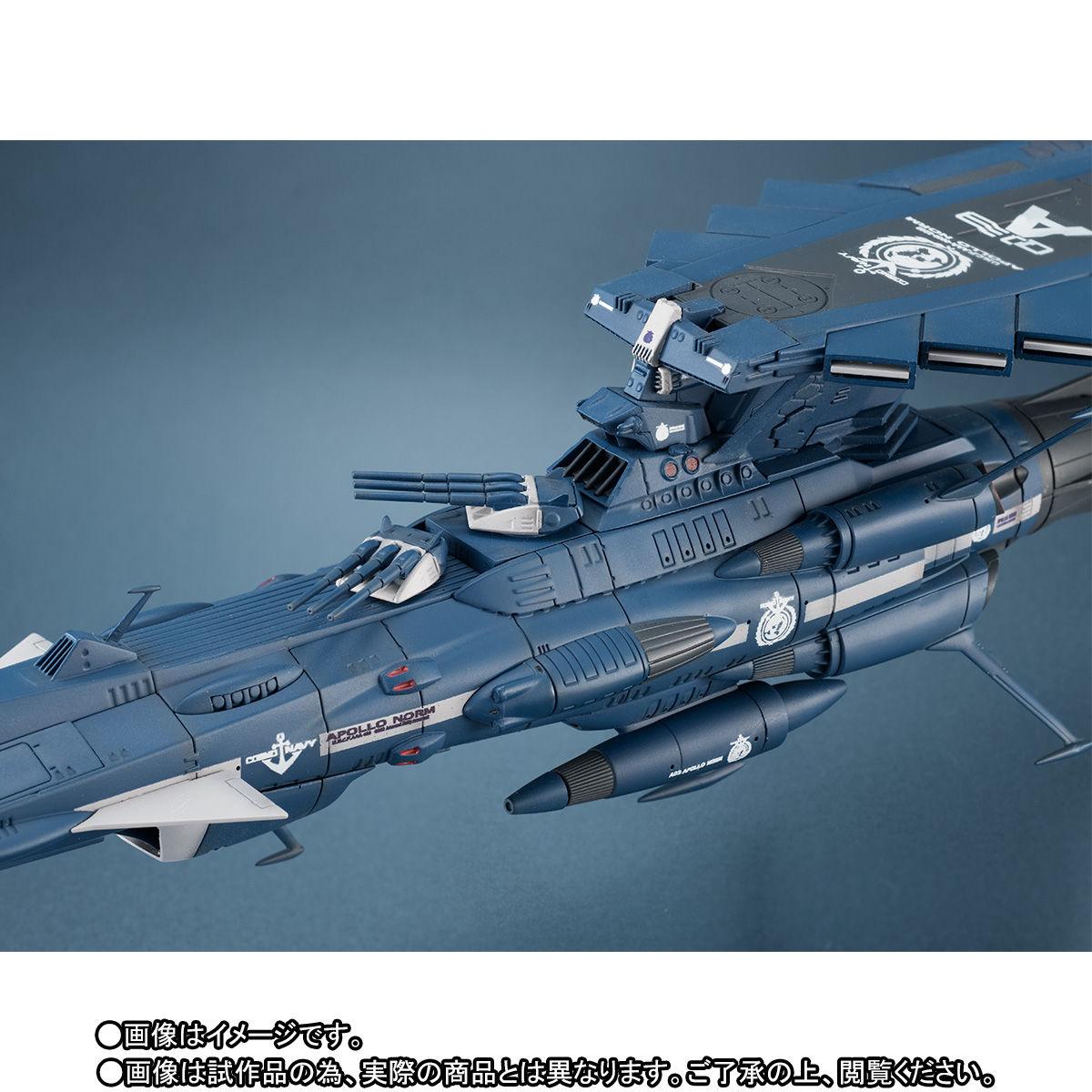 輝艦大全『地球連邦アンドロメダ級三番艦 アポロノーム|宇宙戦艦ヤマト2202』1/2000 完成品モデル-004