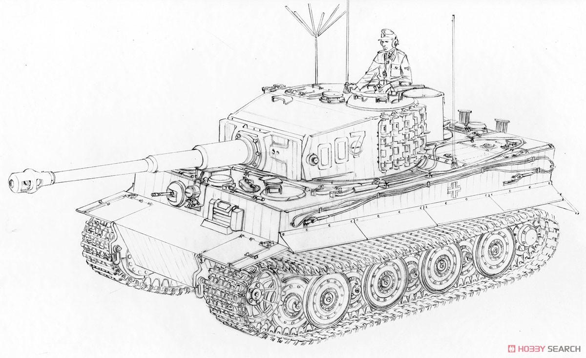 WW.II ドイツ軍『ティーガーI 後期生産型|ヴィットマン ラスト タイガー』1/35 プラモデル-002