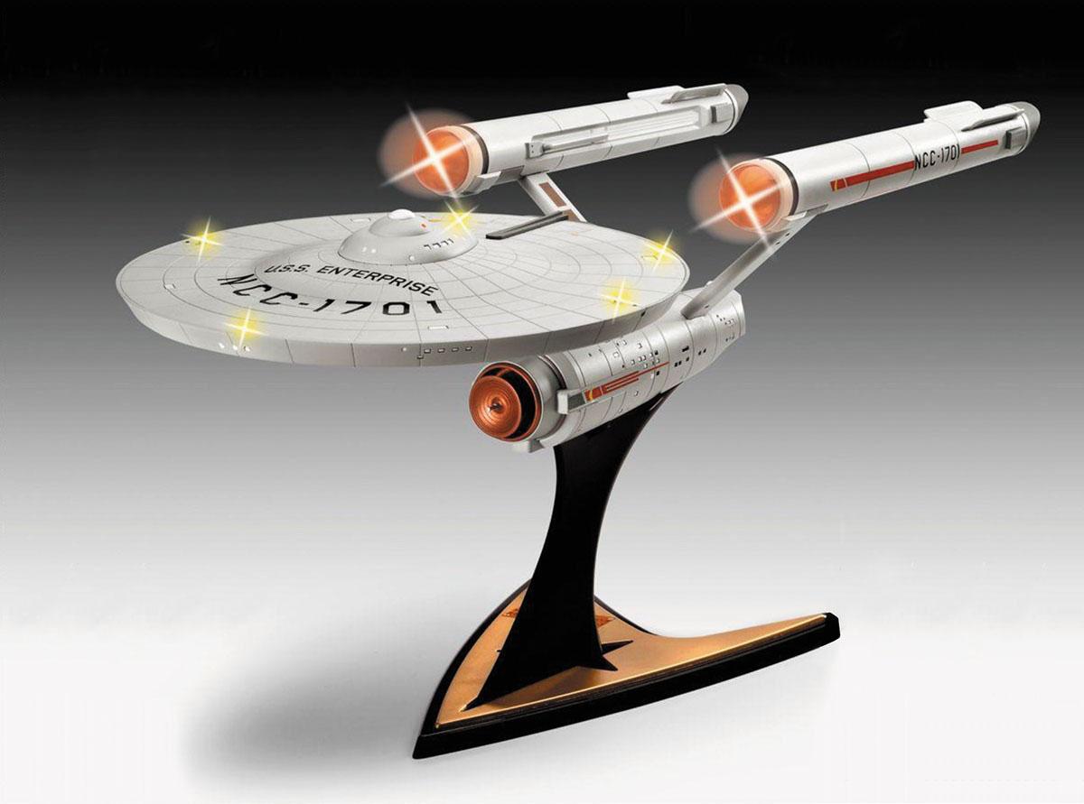 スタートレック 宇宙大作戦『U.S.S. エンタープライズ NCC-1701〔ライト&サウンドユニット付属〕』1/600 プラモデル-001