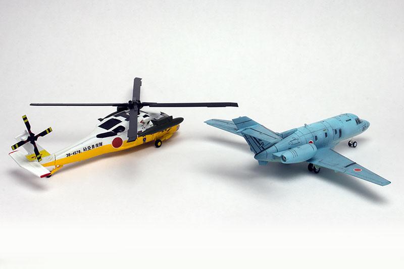 よみがえる空『航空自衛隊 UH-60J & U-125A』1/144 プラモデル-004