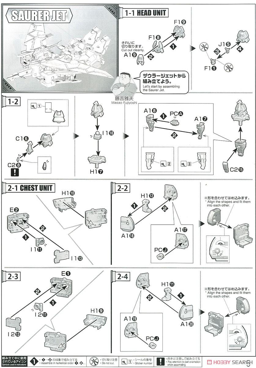 HG 1/300『ゴウザウラー|熱血最強ゴウザウラー』プラモデル-019