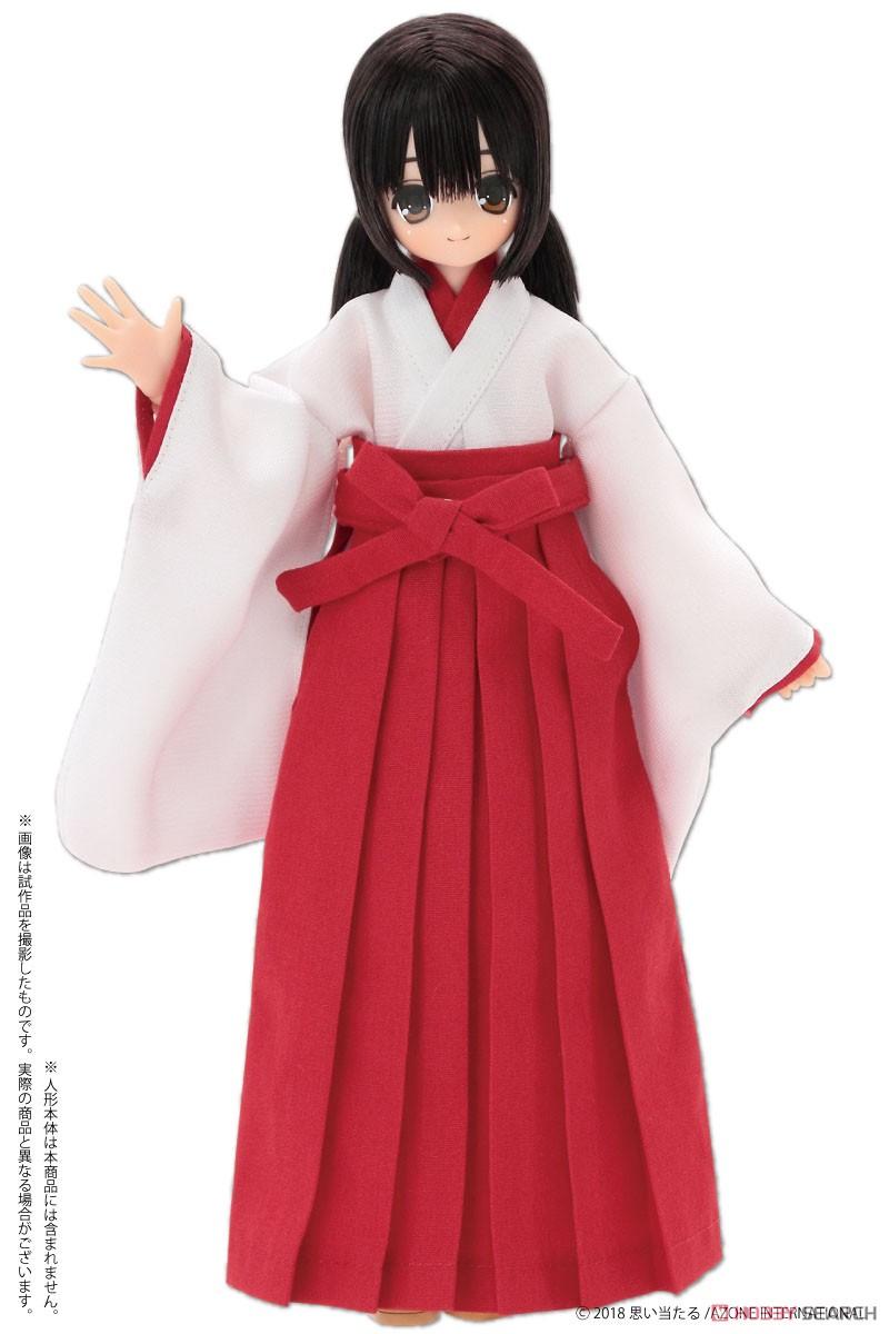 ピュアニーモサイズ コスチューム『PNS2 巫女セット 緋色』ドール服-002