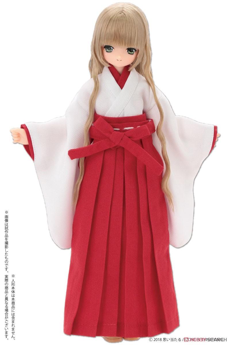 ピュアニーモサイズ コスチューム『PNS2 巫女セット 緋色』ドール服-003