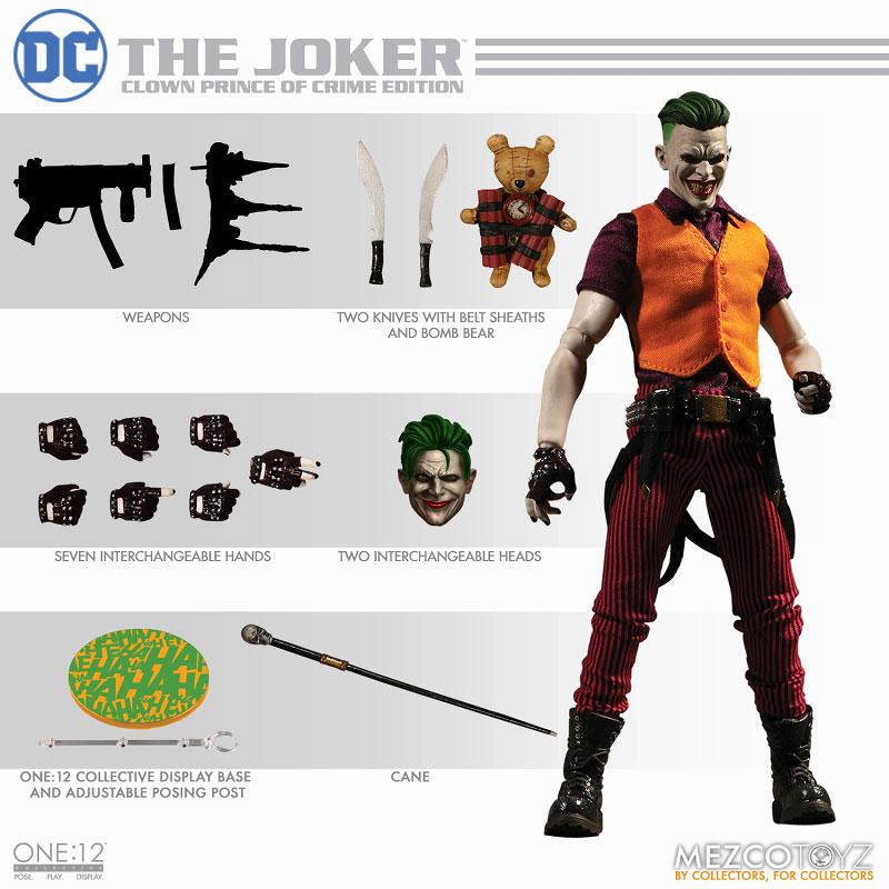 ワン12コレクティブ『ジョーカー クラウンプリンス・オブ・クライム ver|DCコミックス: 』1/12 可動フィギュア-012