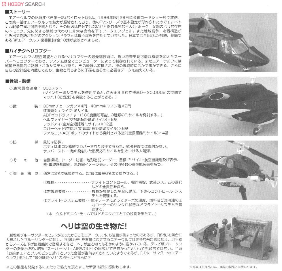 ムービーメカ『SP06 エアーウルフ クリアボディ付バージョン』1/48 プラモデル-010
