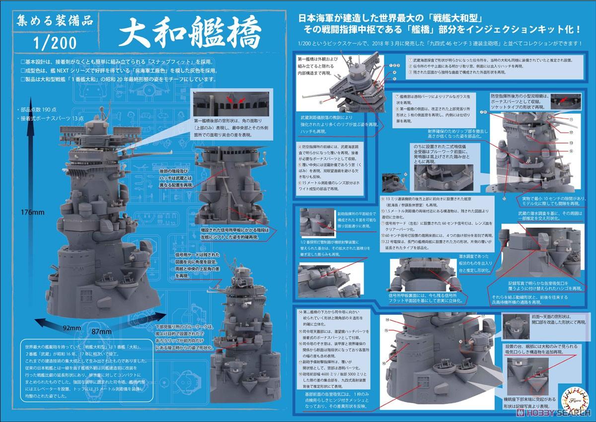 集める装備品シリーズ No.2『戦艦大和 艦橋』1/200 プラモデル-002